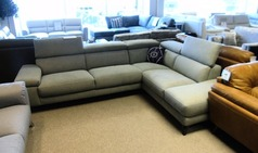 Salon corner suite grey £1,499 (CARDIFF SUPERSTORE) - Click for more details