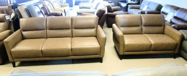 San Remo 3 seater and 2 seater sand £999 (CARDIFF SUPERSTORE)