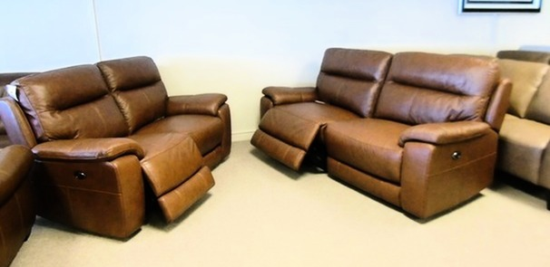 Normandy electric recliner 3 seater and 2 seater £1499 (CARDIFF SUPERSTORE)