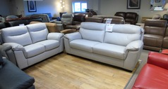 Valencia 3 seater and 2 seater light grey £1399 (CARDIFF SUPERSTORE) - Click for more details