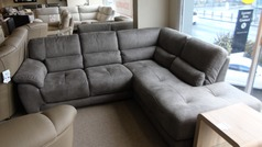 Baresi corner suite dark grey £999 (CARDIFF SUPERSTORE) - Click for more details