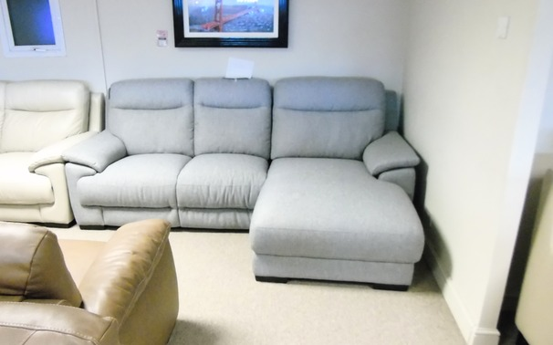 Paris chaise sofa £599 grey (CARDIFF SUPERSTORE)