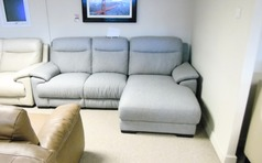 Paris chaise sofa £599 grey (CARDIFF SUPERSTORE) - Click for more details
