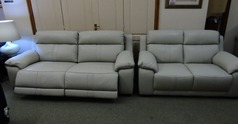 TAHOE electric recliner 3 seater and (static) 2 seater stone hide £2499 (SWANSEA SUPERSTORE) - Click for more details