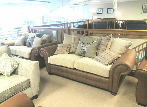 Darwin 3 seater and 2 seater brown/beige £1099 (CARDIFF SUPERSTORE)