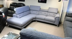 Toulon corner suite grey £999 (CARDIFF SUPERSTORE) - Click for more details
