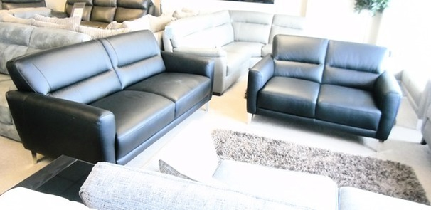 San Remo 3 seater and 2 seater black  £1199 (CARDIFF SUPERSTORE)
