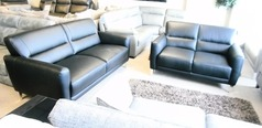 San Remo 3 seater and 2 seater black  £999 (CARDIFF SUPERSTORE) - Click for more details