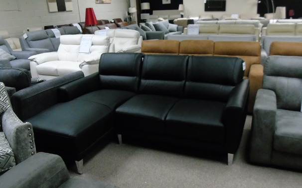 San Remo chaise sofa black £999 (SWANSEA SUPERSTORE)
