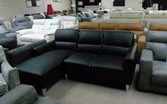 San Remo chaise sofa black £999 (SWANSEA SUPERSTORE) - Click for more details