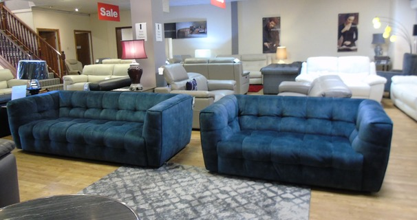 London 3 seater and 2 seater blue  £999 (SWANSEA SUPERSTORE)