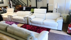 Limoge 3 seater, 2 seater and chair cream £1999 (SWANSEA SUPERSTORE) - Click for more details