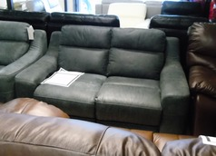 Violino 2 seater electric recliner blue £399 (SWANSEASUPERSTORE) - Click for more details