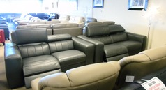 Bellini electric recliner 3 seater and 2 seater grey £1999 (CARDIFF SUPERSTORE) - Click for more details