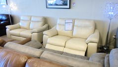 Marseille electric recliner 2 seater and (static) 2 seater bique £1999 (CARDIFF SUPERSTORE) - Click for more details