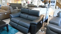 Catania 2 seater electric recliner dark grey £999 (CARDIFF SUPERSTORE) - Click for more details