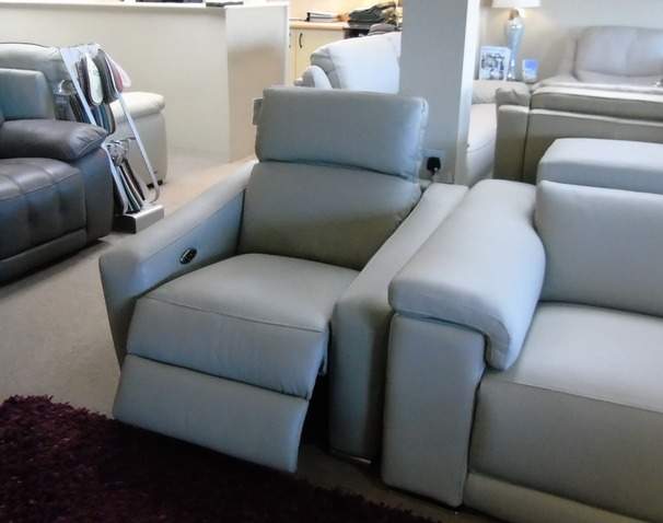 HTL electric recliner chair grey £199 (CARDIFF SUPERSTORE)