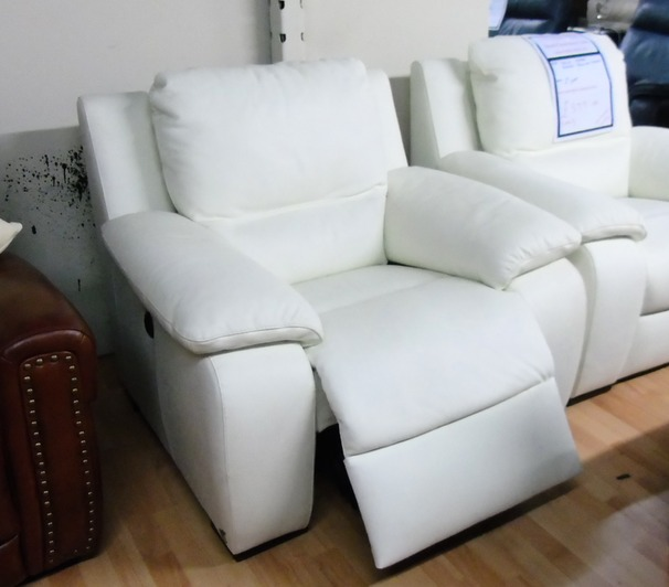 Orlando electric recliner chair white £399 (SWANSEA SUPERSTORE)