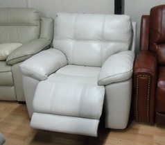 Modena electric recliner chair cream £299 (SWANSEA SUPERSTORE) - Click for more details