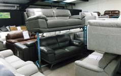 CALAIS 3 seater and 2 seater grey £1299 (SWANSEA SUPERSTORE) - Click for more details
