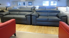 Venetto 3 seater and 2 seater  dark grey £2199 ( CARDIFF SUPERSTORE) - Click for more details