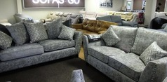 Ashford 3 seater and 2 seater stone grey  £1199 (SWANSEA SUPERSTORE) - Click for more details