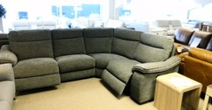 Marseille double electric recliner corner suite  grey £1599 (SWANSEA SUPERSTORE) - Click for more details