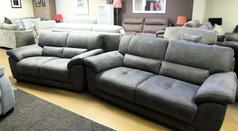 BARESI 3 seater and 2 seater grey £999 (SWANSEA SUPERSTORE) - Click for more details