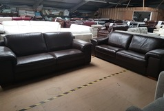 MADRID 3 SEATER AND 3 SEATER BROWN £1399 (SWANSEA SUPERSTORE) - Click for more details