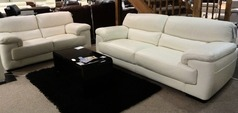 Rosa 3 seater and 2 seater white £2399 (SWANSEA SUPERSTORE) - Click for more details