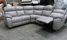 Barcelona double electric recliner corner suite mid grey £2299 (SWANSEA  SUPERSTORE) - Click for more details