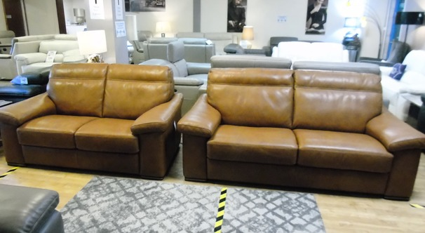 VERONA 3 seater and 2 seater tan £2999 (SWANSEA SUPERSTORE)