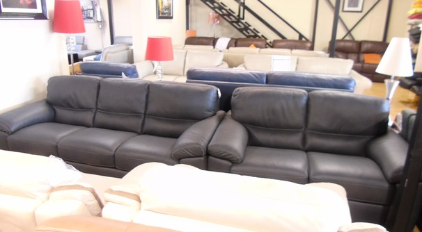 Pescaro 3 seater and 2 seater dark grey £2099 (SWANSEA SUPERSTORE)