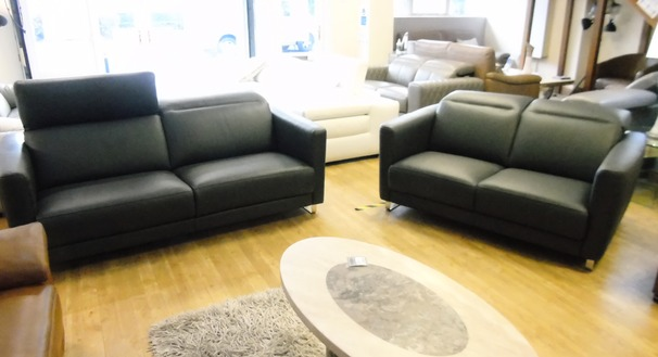 Rossini Bolt 3 seater and 2 seater dark grey £3999 (SWANSEASUPERSTORE)