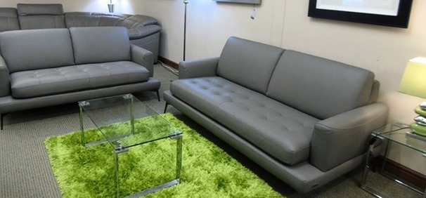 ROSSINI LIVING 3 seater and 2 seater grey £2999 (SWANSEA SUPERSTORE)