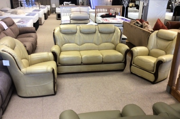 GEMMA 3 seater and 2 chairs- antique beige £1799 (CARDIFF SUPERSTORE)