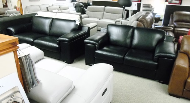 Madrid 3 seater and 2 seater black £2199 ( SWANSEA SUPERSTORE)