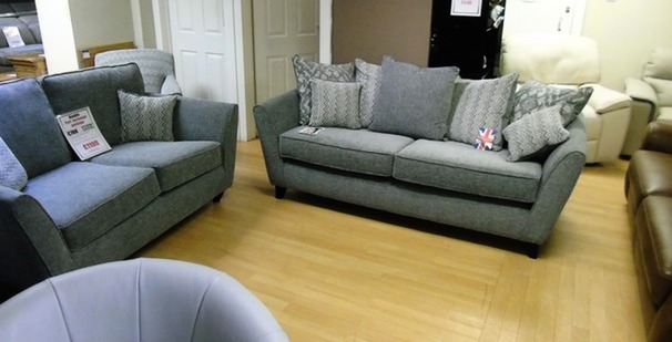 Vestra 3 seater and 2 seater grey £899 (SWANSEA SUPERSTORE)