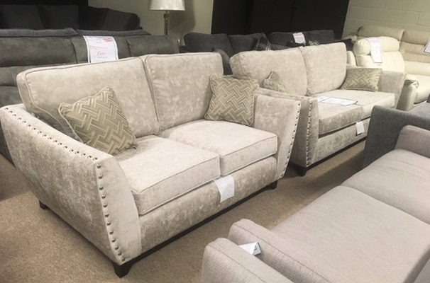 Ashford 3 seater and 2 seater stone £1199 (SWANSEA SUPERSTORE)