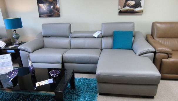 Catania  electric recliner chaise sofa grey £2799 (CARDIFF SUPERSTORE)