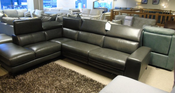 Metz Recliner corner suite dark grey  £1999 (CARDIFF SUPERSTORE)