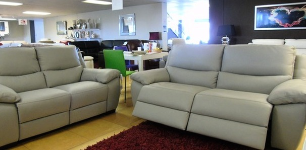 Marino electric recliner 3 seater and 2 seater  grey £2999 (SWANSEA SUPERSTORE)