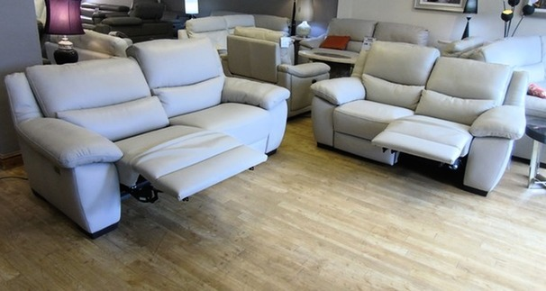 Marino electric recliner 3 seater and 2 seater stone £2999  (SWANSEA SUPERSTORE)