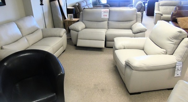 Marino  electric recliner 3 seater, 2 seater and chair £3999 (SWANSEA SUPERSTORE)
