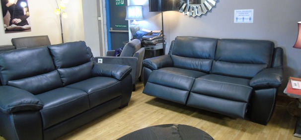 Marino  electric recliner 3 seater,  static 2 seater dark grey  £2499 (SWANSEA SUPERSTORE)